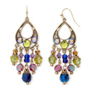 Aris by Treska Venice Multicolor Bead Chandelier Earrings