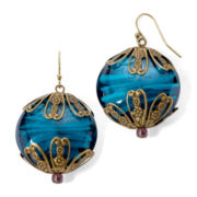 Aris by Treska Venice Blue Stone Drop Earrings