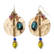 Aris by Treska Venice Multicolor Bead Disc Drop Earrings