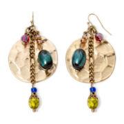 Aris by Treska Venice Multicolor Bead Disc Drop Earrings