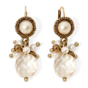 Aris by Treska Simulated Pearl Drop Earrings