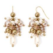 Aris by Treska Simulated Pearl Cluster Earrings