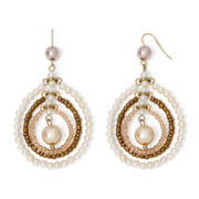 Aris by Treska Simulated Pearl Teardrop Drop Earrings