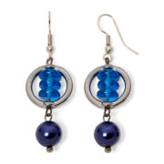 Aris by Treska Baltimore Blue Bead Earrings