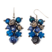 Aris by Treska Baltimore Blue Bead Shaky Cluster Earrings