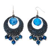 Aris by Treska Baltimore Blue Bead Chandelier Earrings