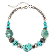 Aris by Treska Cyprus Blue Bead Chunky Necklace