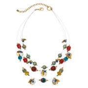 Aris by Treska Zanzibar Multicolor Bead Illusion Necklace