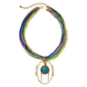 Aris by Treska Venice Multicolor Bead Multi-Strand Pendant Necklace