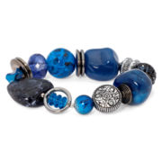 Aris by Treska Baltimore Blue Bead Stretch Bracelet