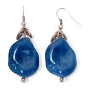 Aris by Treska Birmingham Blue Nugget Silver-Tone Drop Earrings