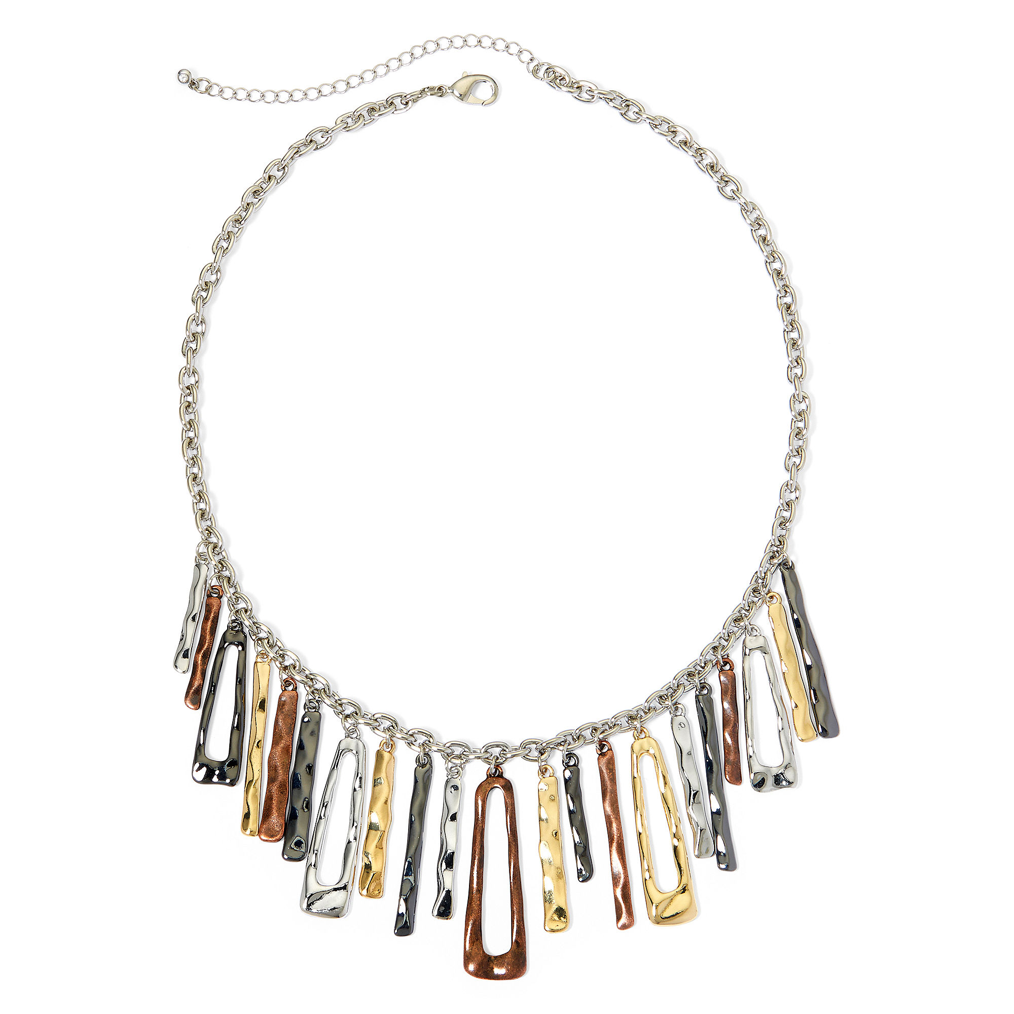 Bold Elements™ Hammered Charm Necklace
