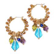 Aris by Treska Venice Multicolor Bead Hoop Earrings