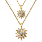 Monet® Crystal Double Starburst Pendant
