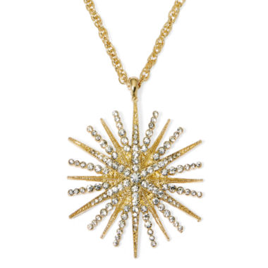 jcpenney.com | Monet® Crystal Starburst Pendant Necklace