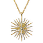 Monet® Crystal Starburst Pendant Necklace