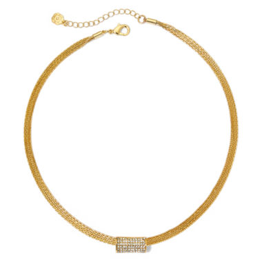 jcpenney.com | Monet® Gold-Tone Crystal Pendant Necklace