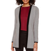 Liz Claiborne® Long-Sleeve Herringbone Cardigan - Tall