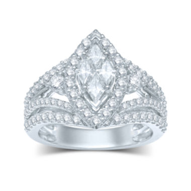 jcpenney.com | 2 CT. T.W. Fancy-Cut Diamond Marquise-Shaped 14K White Gold Ring