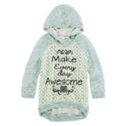 Knit Works Lace-Front Hoodie - Girls 7-16 and Plus