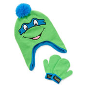 Teenage Mutant Ninja Turtles Hat and Mittens Set - Boys