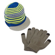 Bershire Brim Hat and Texting Gloves Set - Boys