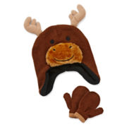 Moose Hat and Mittens Set - Toddler Boys 2t-4t