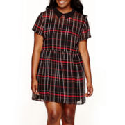 Arizona Short-Sleeve Plaid Dress - Plus