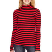 Arizona Long-Sleeve Mock-Neck Ribbed T-Shirt