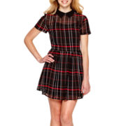 Arizona Short-Sleeve Plaid Dress