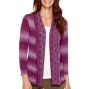Alfred Dunner® Calabria 3/4-Sleeve Spacedye Cardigan - Petite
