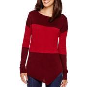 a.n.a® Long-Sleeve Asymmetrical Sweater - Petite