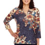 Alfred Dunner® El Dorado 3/4-Sleeve Floral Print Top