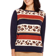 Alfred Dunner® El Dorado 3/4-Sleeve Novelty Sweater