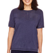 Alfred Dunner® El Dorado Short-Sleeve Sweater Shell