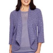 Alfred Dunner® Copenhagen 3/4-Sleeve Textured Jacket