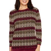 Alfred Dunner® Calabria Long-Sleeve Striped Sweater