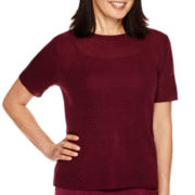 Alfred Dunner® Calabria Short-Sleeve Sweater Shell