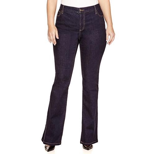 St. John's Bay® Secretly Slender Bootcut Jeans - Plus