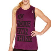 Reebok® Sleeveless Graphic Muscle T-Shirt