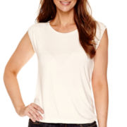 Liz Claiborne® Sleeveless Bubble T-Shirt