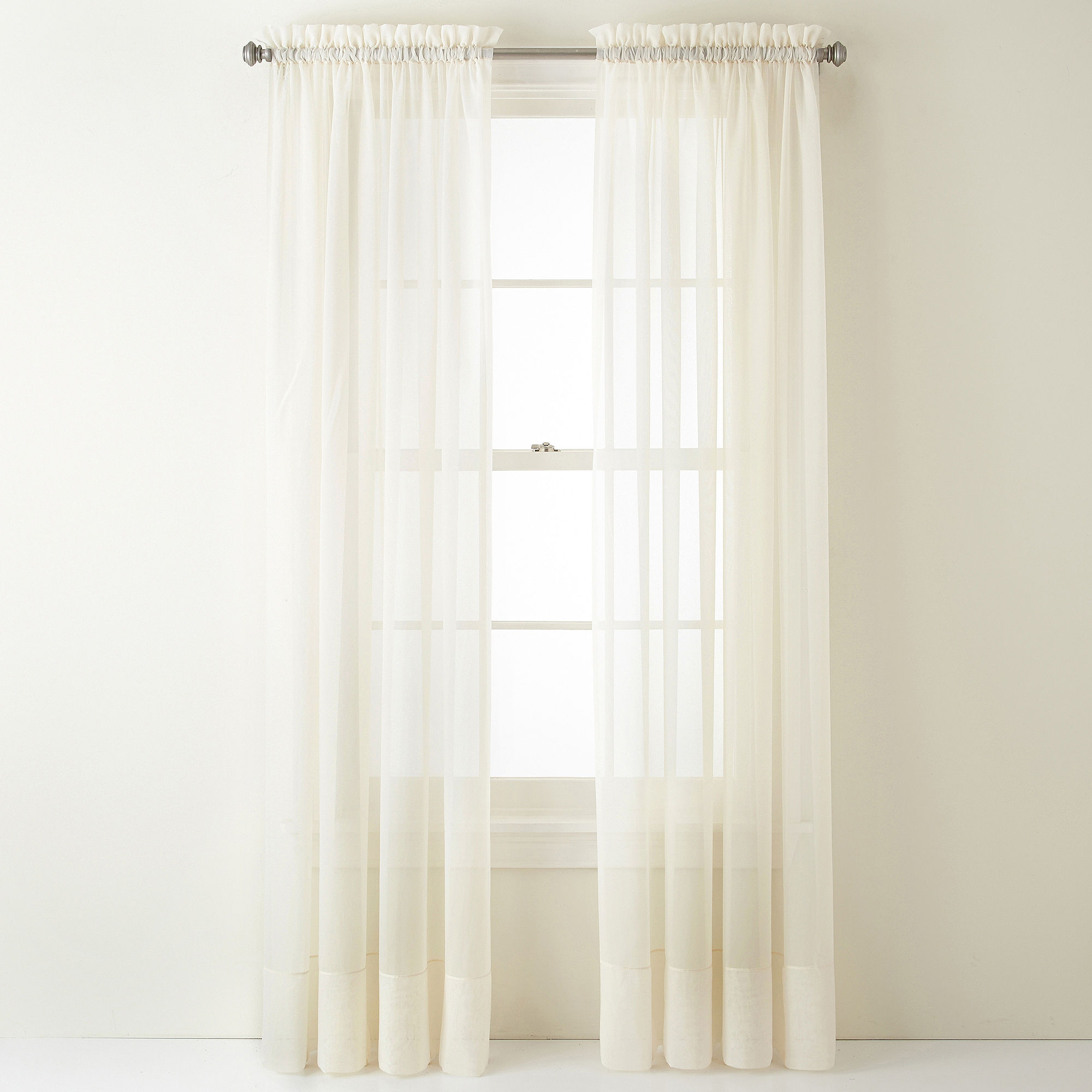 Liz Claiborne Lisette Rod-Pocket Sheer Panel