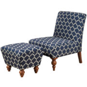 Harper Accent Chair and Ottoman