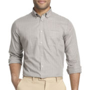 Van Heusen® Long-Sleeve Checked No-Iron Woven Shirt