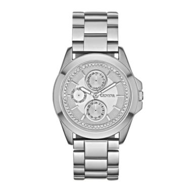 jcpenney.com | Womens Crystal-Accent Boyfriend Bracelet Watch