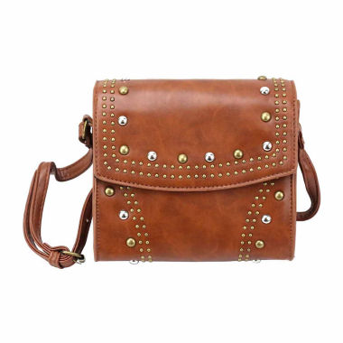 jcpenney.com | Olivia Miller Zia Multi Studded Flap Crossbody Bag