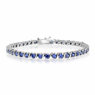 jcpenney.com | Womens 7.25 Inch Blue Tanzanite Sterling Silver Link Bracelet