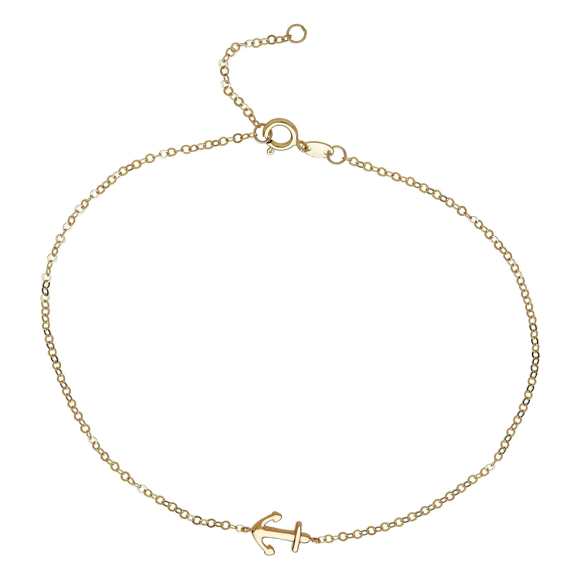 gold london cleo bracelet itm anklet rose plate element womens links of jewellery