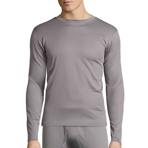 St. John's Bay® Box Mesh Thermal Shirt