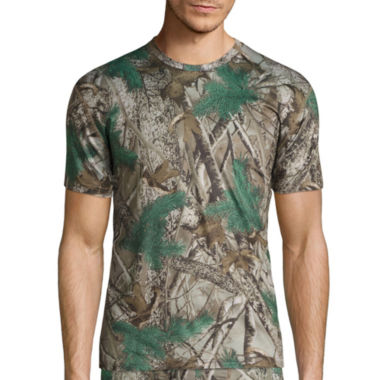 jcpenney.com | St. John's Bay® Poly Stretch Camo Crew Neck T-Shirt